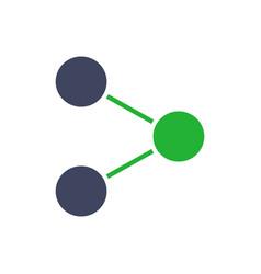 Share button colored icon feedback social vector