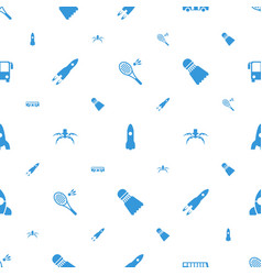 Shuttle icons pattern seamless white background vector