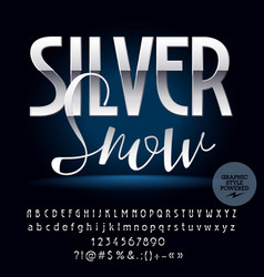 silver exclusive set of alphabet letters vector image