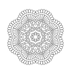 simple floral mandala vector image