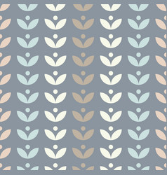 Simple floral seamless pattern with leaves vector