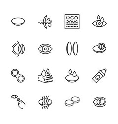 Simple icon set vision eyesight ophthalmology vector
