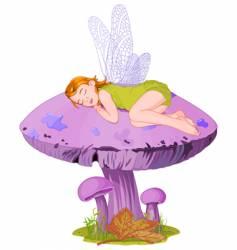 sleeping elf vector image