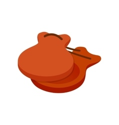Spanish castanets icon isometric 3d style vector image