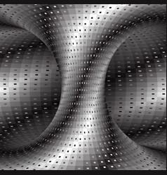 Spiral patterned silver hyperboloid optical vector