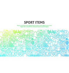 sport items concept vector image