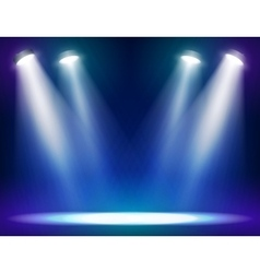 Stage lights background vector
