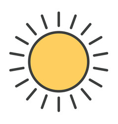 sun line icon simple minimal 96x96 pictogram vector image