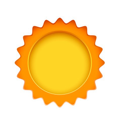 Sun sign on the white background vector