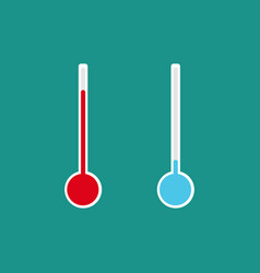 Thermometers with different levels flat style vector