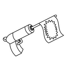 Toy gun cartoon vector