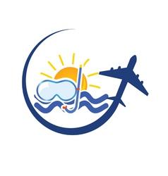 Travel icon color vector