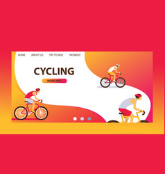 triathlon track cycling vector image