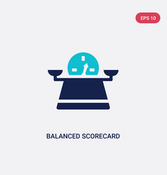 Two color balanced scorecard icon from human vector