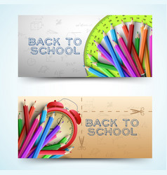 Two scholastic banner set vector