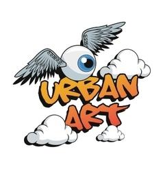 Urban art and graffiti design vector