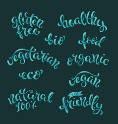 Vegan related lettering vector