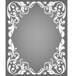 Vintage filigree frame vector
