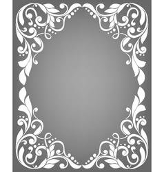 Vintage filigree frame vector image
