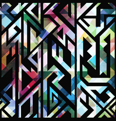 Vintage mosaic geometric pattern vector
