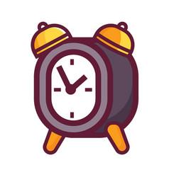 vintage twin bell alarm clock icon vector image