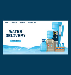 Water bottle man woman character delivering vector