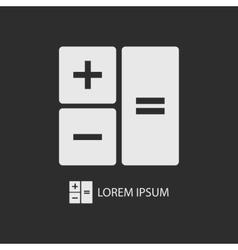 White calculator on dark grey vector image