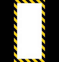 banner frame diagonal yellow black stripes vector image vector image