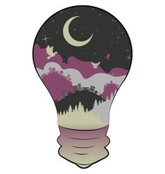 City in a Lightbulb3 vector image
