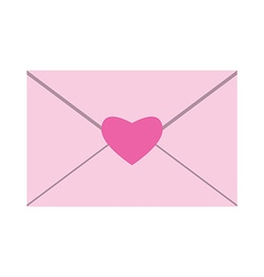 Envelope with heart seal vector image