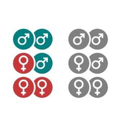 Gender symbols in circles vector image