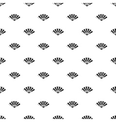 Japanese fan pattern simple style vector image vector image