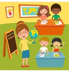 Kids school or baby club lessons vector image
