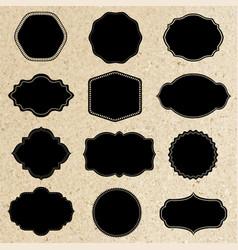 retro labels set vector image vector image