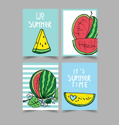 set of bright summer cards beautiful vector image vector image