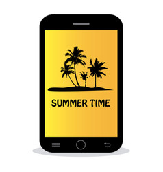 summer time - tropical island vector image