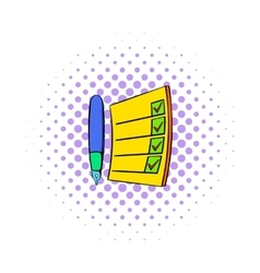 To do list icon comics style vector image vector image