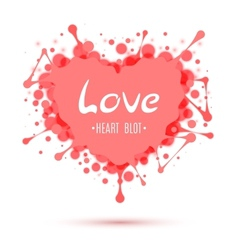 Abstract heart blot isolated on white vector image vector image