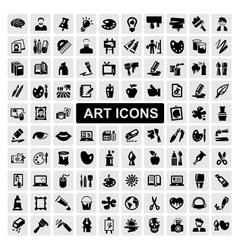art Icons set vector image