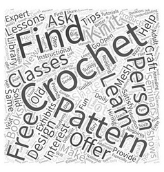 free crochet doily patterns Word Cloud Concept vector image