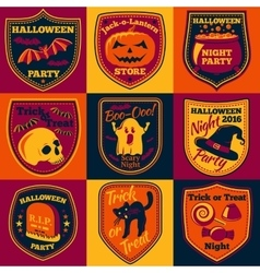 Halloween bright labels set with - ghost vector image