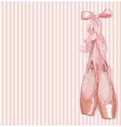 Ballet Slippers vector image vector image