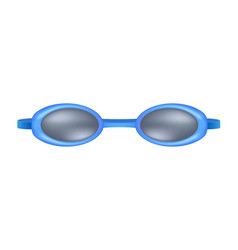 blue goggles for swim vector image vector image