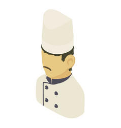 chef man asian icon isometric 3d style vector image