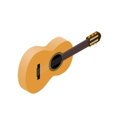 Classic guitar isometric 3d style vector image vector image