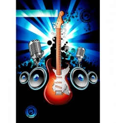 electric guitar music background vector image