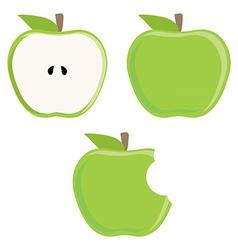 Green apple set vector image vector image
