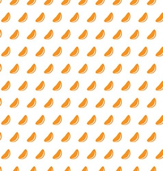 Mandarine slices on a white background seamless vector image