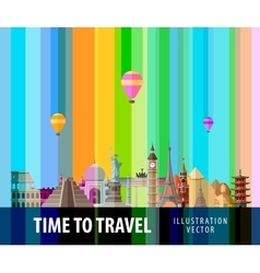 Travel journey logo design template vector