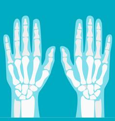 cartoon human joints hands set vector image